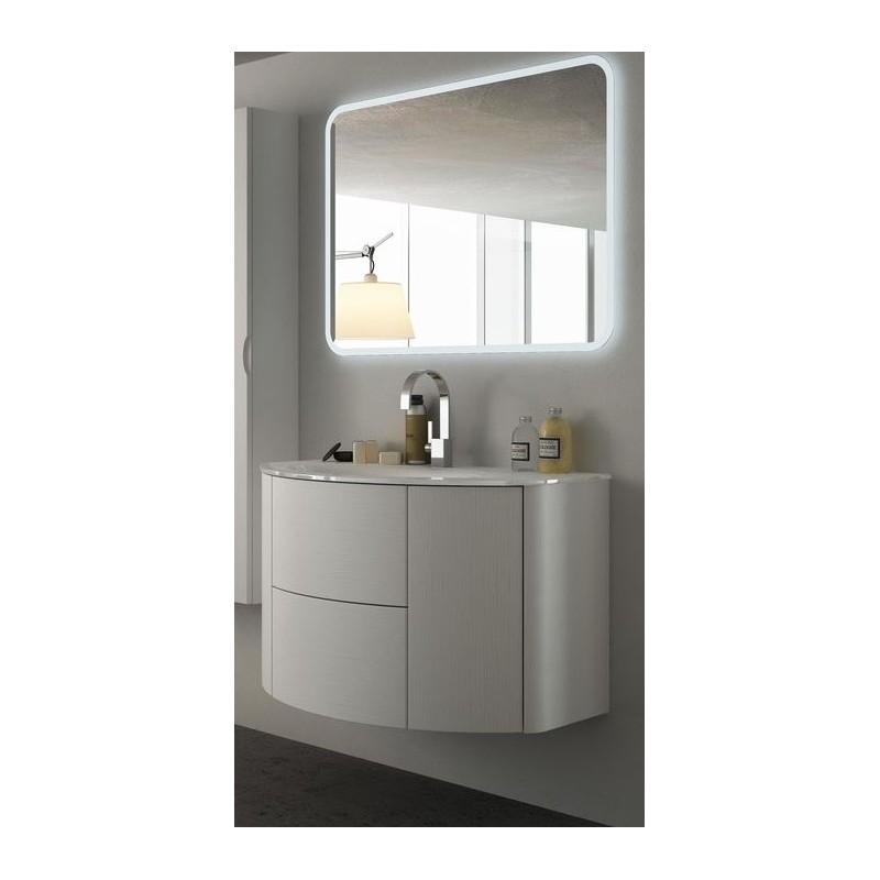 Baden haus mobile da bagno sospeso 90 cm eden frassino for Mobile lavello bagno