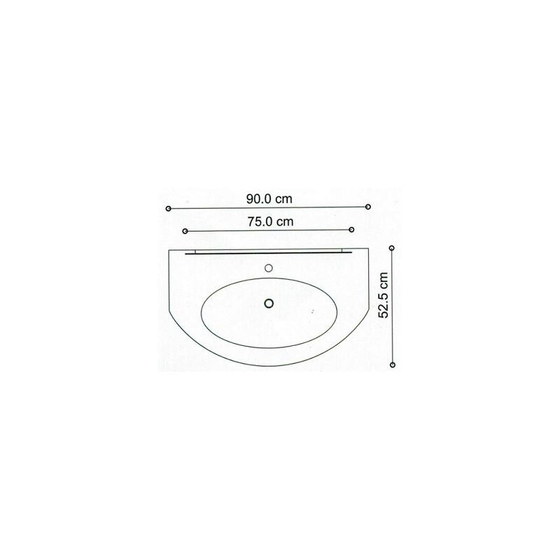 Baden haus - Mobile da Bagno Sospeso 90 cm Eden Frassino Bianco