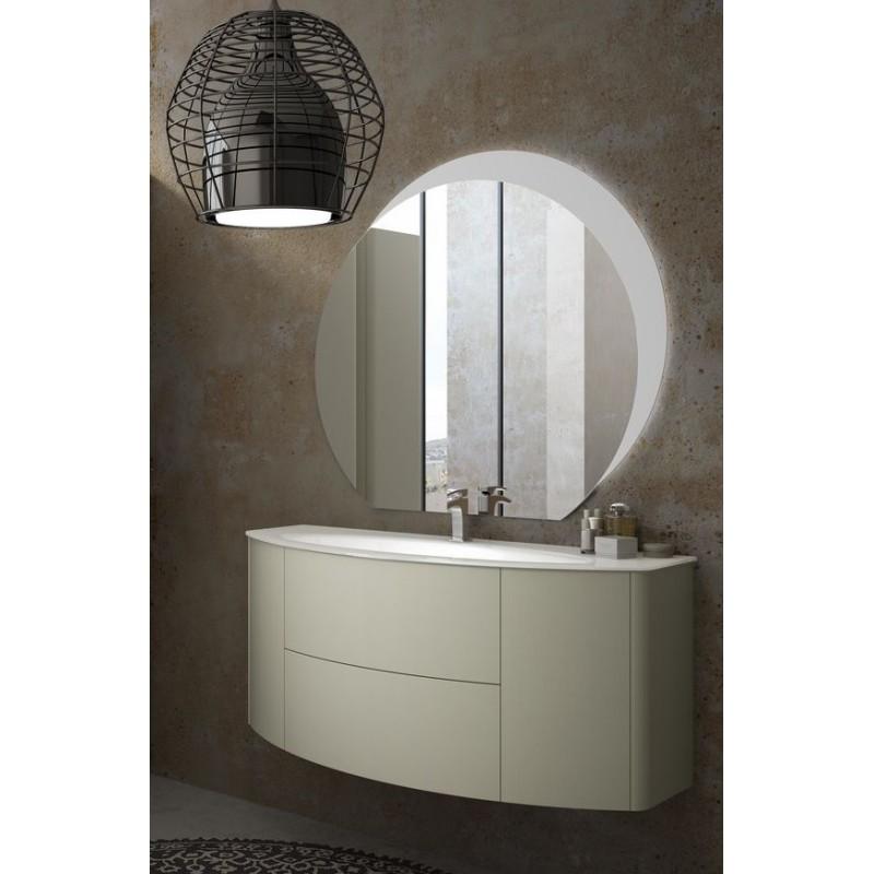 Baden haus mobile da bagno sospeso 121 cm eden grigio chiaro - Bagno grigio chiaro ...