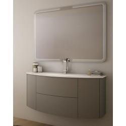 Baden haus mobile da bagno sospeso 140 cm liverpool grigio - Mobile bagno asimmetrico ...