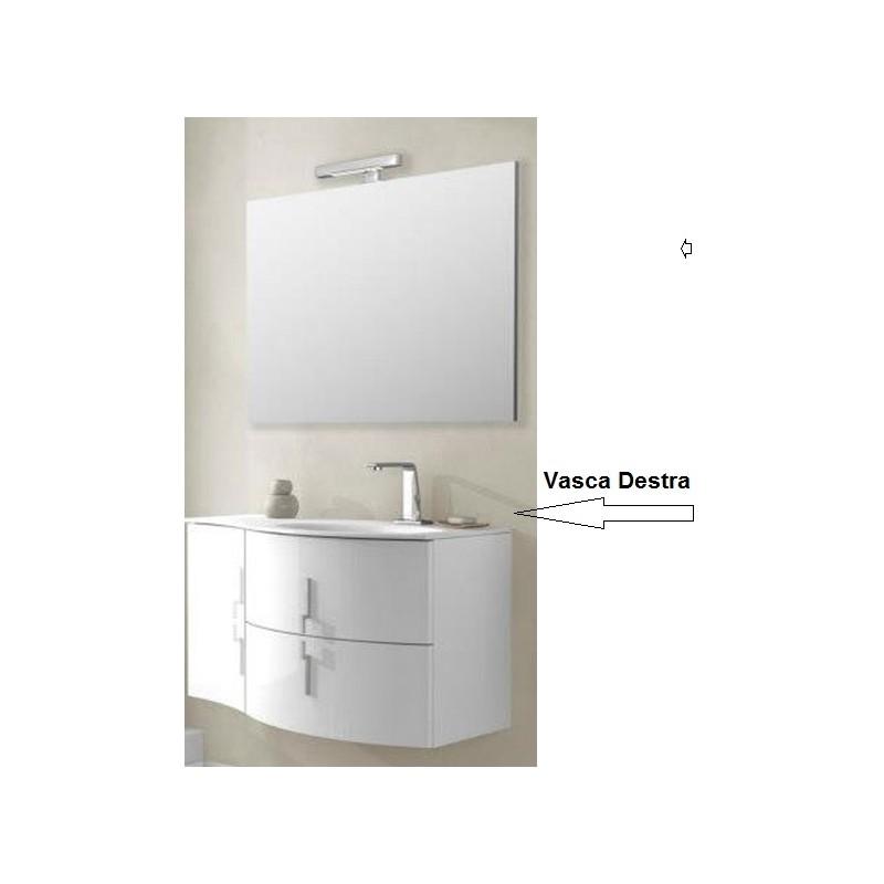 Baden haus mobile da bagno sospeso 104 cm sting bianco - Mobile da bagno sospeso ...
