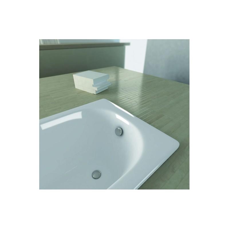 Vasca da incasso 160x70 cm in acciaio vendita online italiaboxdoccia - Vasche da bagno in acciaio smaltato ...