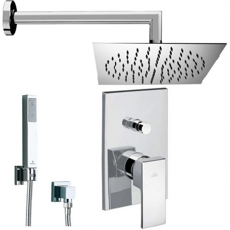 Composizione doccia incasso con deviatore level paffoni braccio soffione slim e doccetta - Soffione doccia incasso ...