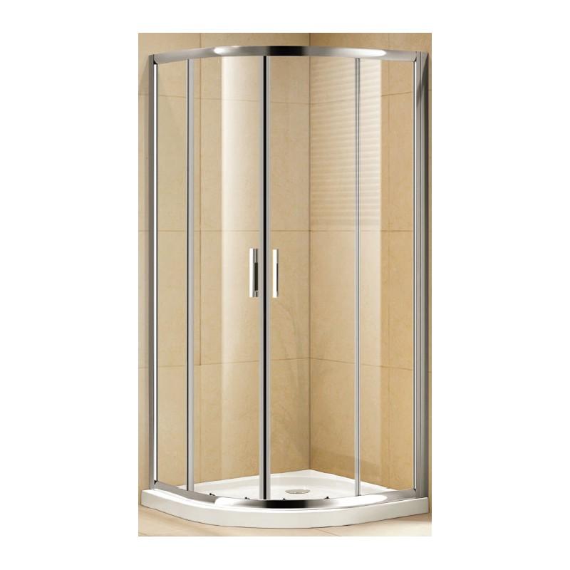 Box doccia cristallo 6 mm per piatti doccia semicircolari