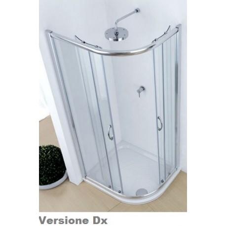 Box doccia ad angolo asimmetrico per piatti doccia 70x90 cm - Cabine doccia multifunzione ideal standard ...