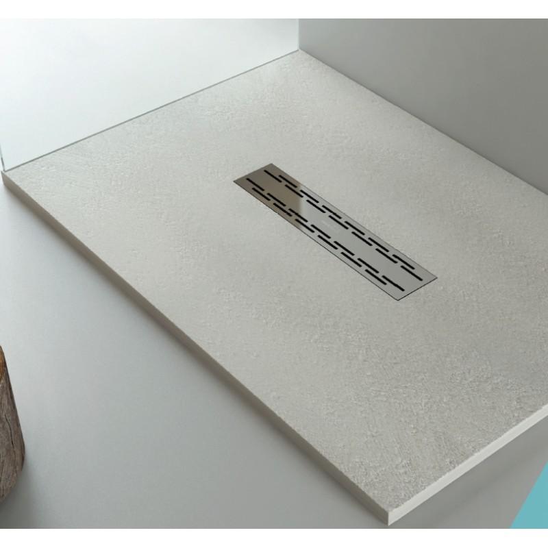 Piatto doccia in pietra sintetica con piletta di scarico a - Piatto doccia in pietra ...