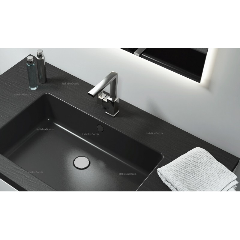 Relax Design - Top con Lavabo Integrato da 70 cm in Pietra Sintetica