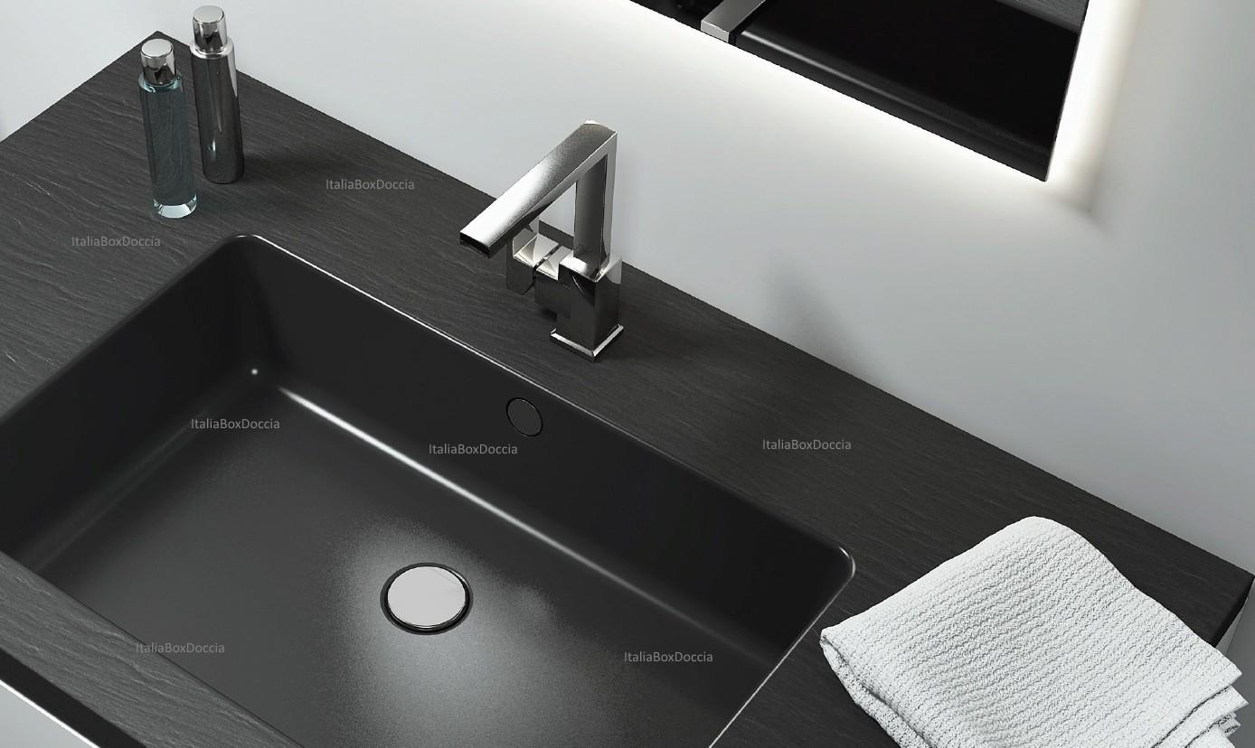 Vasca Da Bagno 100 70 : Relax design top con lavabo integrato da cm in pietra sintetica