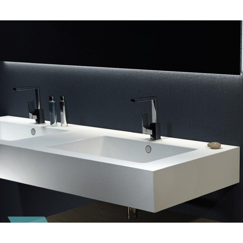 Relax design top con doppio lavabo integrato in pietra - Lavabo pietra bagno ...