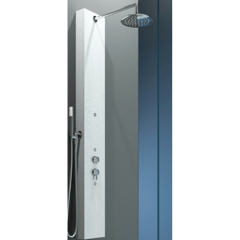 Relax design colonna doccia elle in marmo resina ardesia - Box doccia resina ...