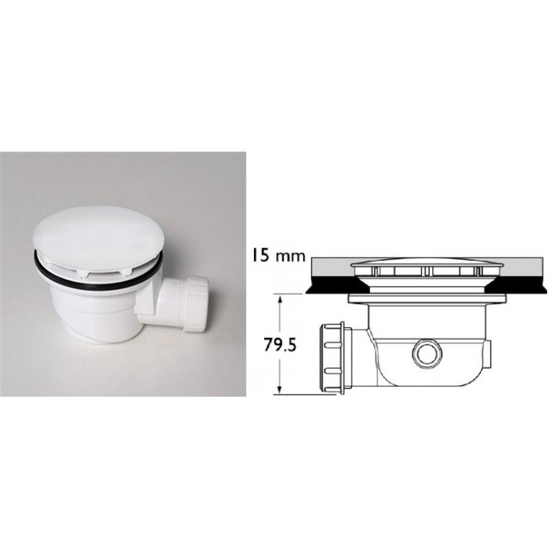 Silfra piletta di scarico sifonata silfra ad300 bianca 90 - Scatola sifonata bagno ...