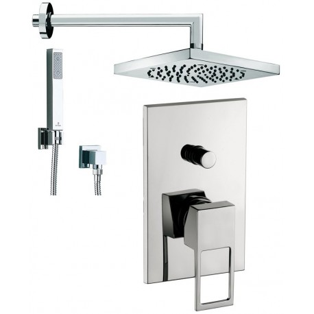 Composizione doccia incasso con deviatore effe paffoni braccio soffione e doccetta bossini - Soffione doccia incasso ...