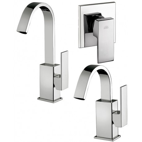 Paffoni elle miscelatori lavabo bidet a canna alta orientabile doccia - Miscelatori bagno canna alta ...