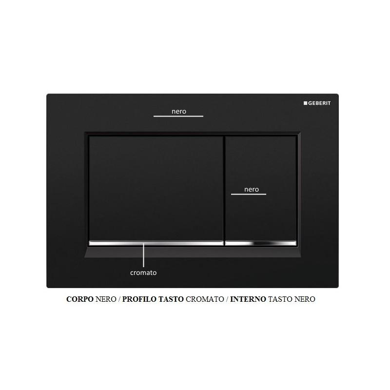 geberit placca sigma 30 colore nera a due pulsanti. Black Bedroom Furniture Sets. Home Design Ideas
