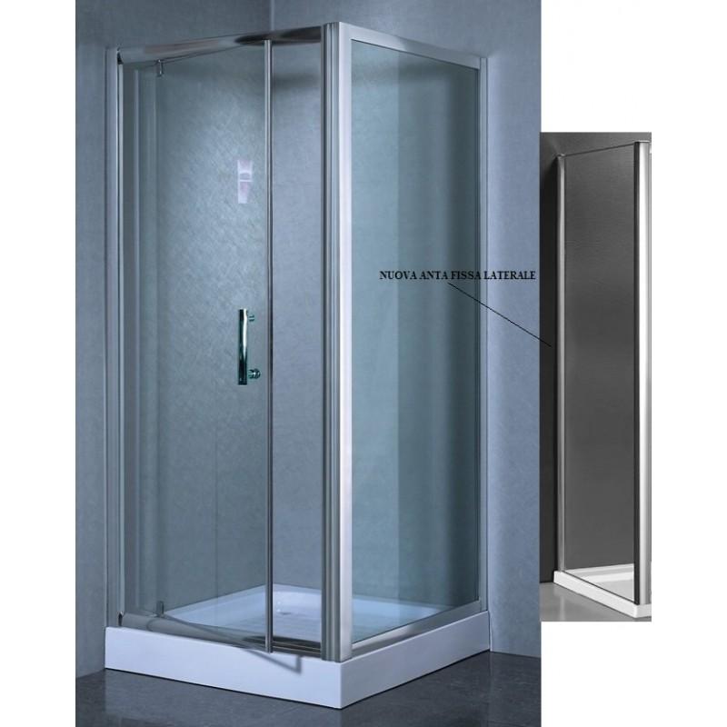 Nice line box doccia a porta battente cristallo for Ideal standard ala