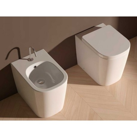Domus falerii vaso e bidet foglia quadra filo parete - Sanitari accessori bagno ...