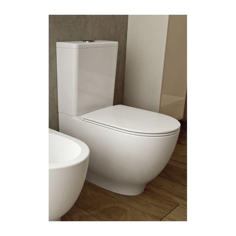 Rak vaso moon con cassetta monoblocco geberit - Bagno con wc separato ...