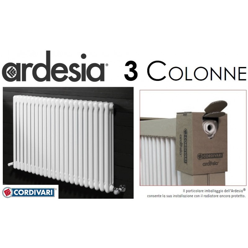 Cordivari - Radiatore da Arredo h.2056 Ardesia Bianco a 3 Colonne