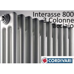 Radiatore in Acciaio Cordivari Ardesia a 3 colonne h.856 Intersase 800 mm