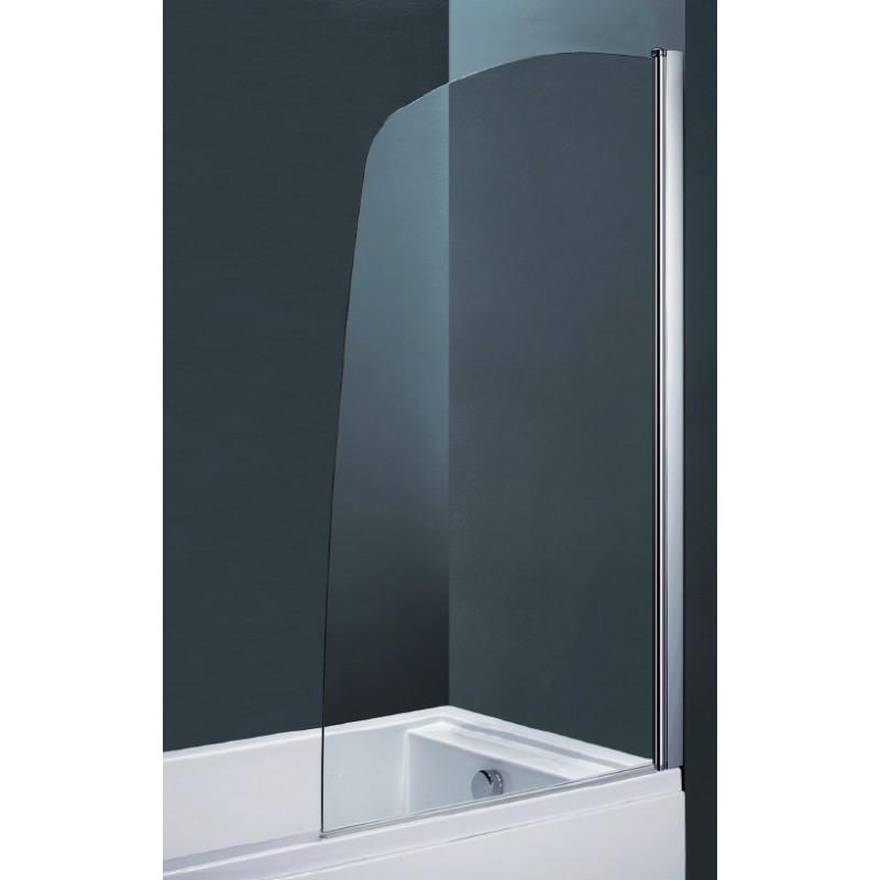 Parete per vasca da bagno ad un 39 anta cristallo 6 mm lunghezza 82 cm - Box per vasca da bagno ...