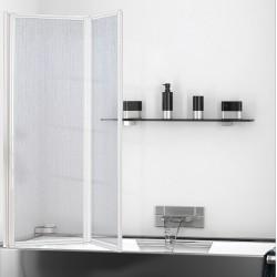 Parete sopravasca 95 cm acrilico con profili alluminio bianco