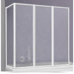 Box sopravasca 70x140 cm acrilico con profili alluminio bianco