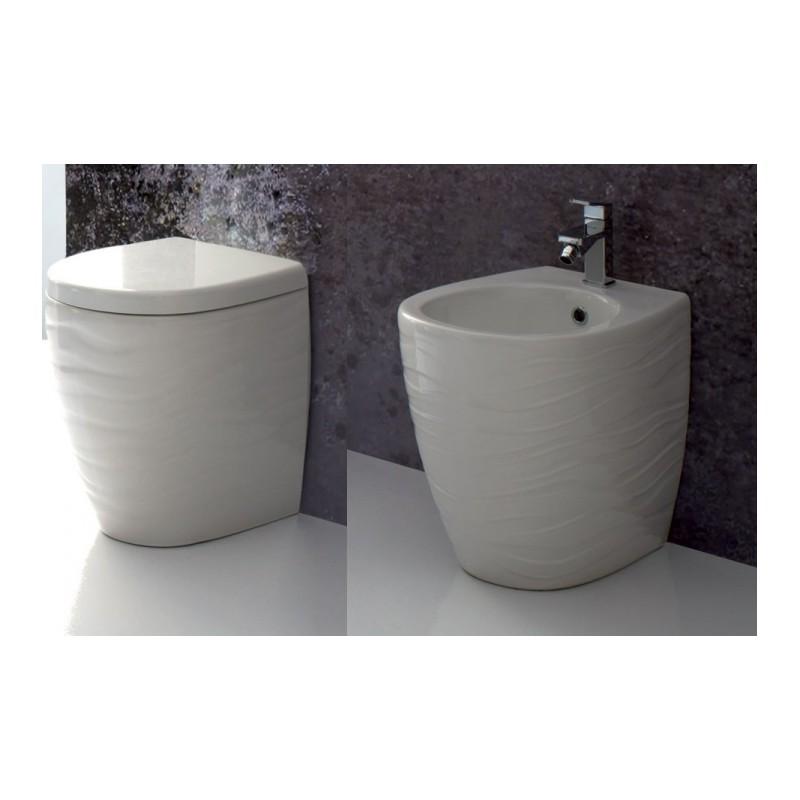 Sanitari Ceramiche Senesi.Vaso Bidet Wave Ala Ceramica