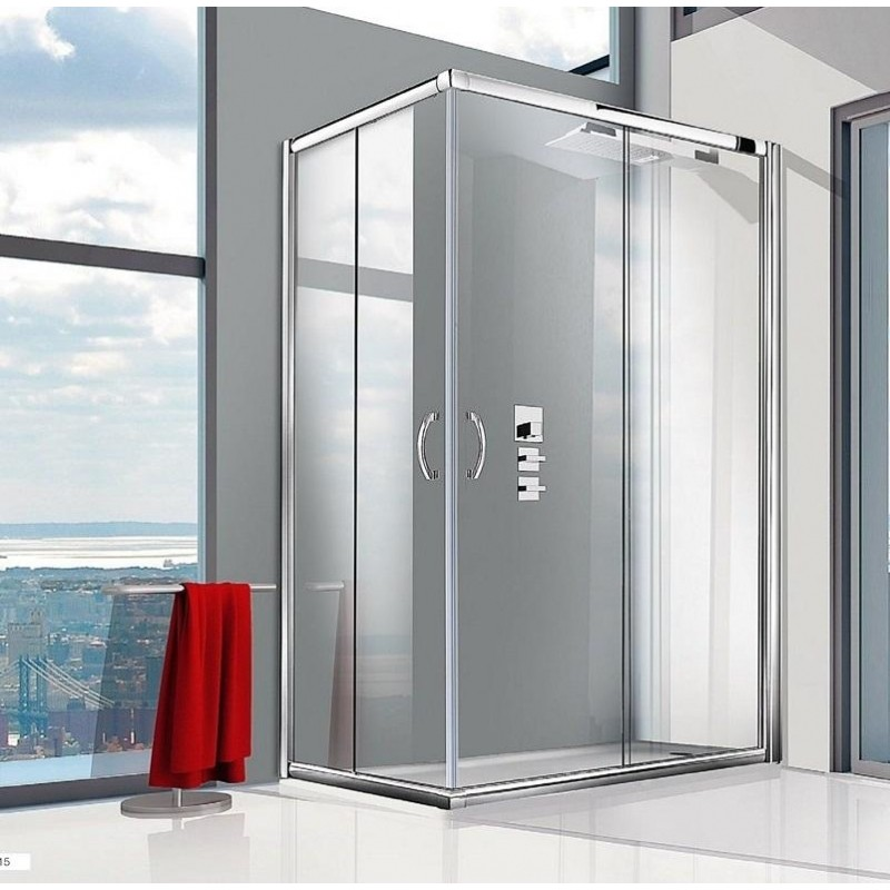 Cabina doccia box doccia angolare cristallo 6 mm giava tonga - Porta a soffietto leroy merlin ...