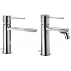 Miscelatori lavabo + bidet Gaia Frattelli Frattini  55054 - 55103