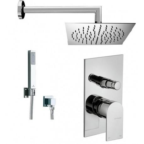 Set doccia deviatore tolomeo frattini braccio soffione doccietta - Soffione doccia incasso ...