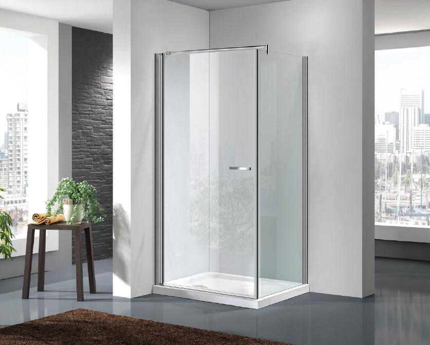Cabina Doccia 90x90 : Box doccia a chiusura battente com parete fissa cristallo mm