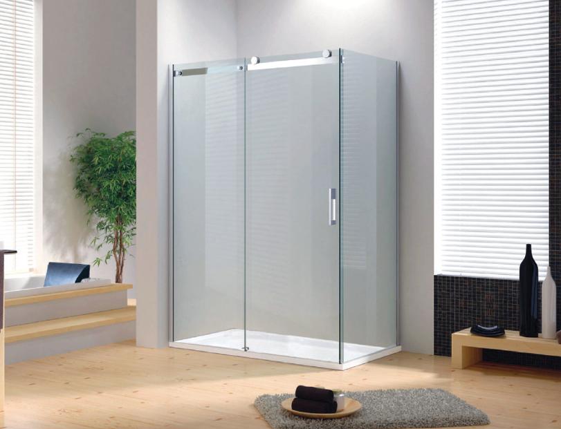Box doccia con porta scorrevole cristallo mm trasparente o fumè