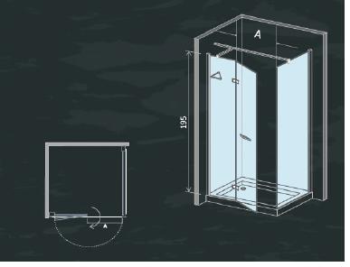 Box doccia con porta a battente e parete fissa cristallo 8 - Montaggio porta battente ...