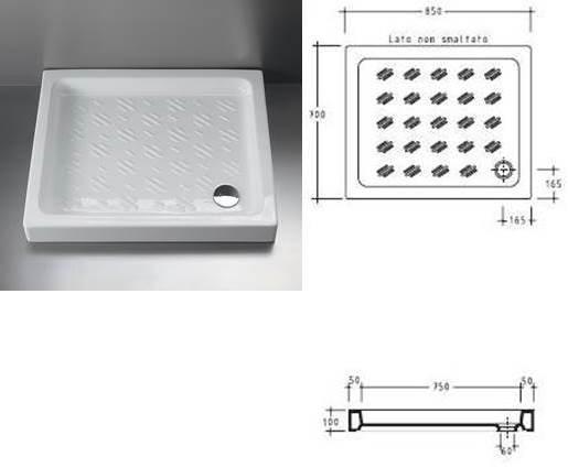 Box doccia rettangolare 70x85 cm cristallo 3 mm vendita - Piatto doccia 70x85 ...