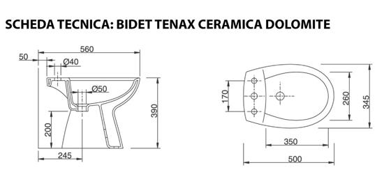 Ceramica Dolomite Schede Tecniche.Vaso Con Coprivaso Bidet Tenax Vendita Online Italiaboxdoccia
