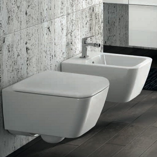 Pozzi ginori sanitari sospesi metrica con sedile wc for Misure sanitari sospesi