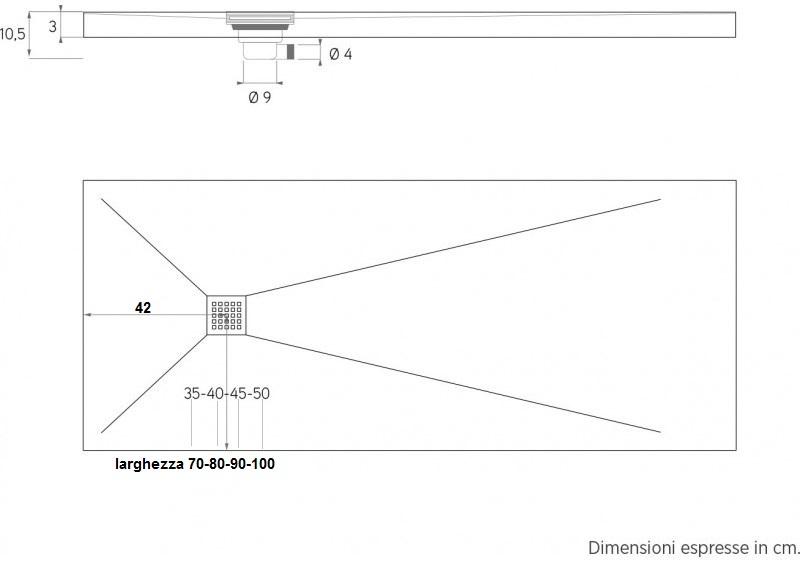 Dimensione Piatto Doccia 60x90.Su Misura Piatto Doccia In Marmo Resina Ardesia