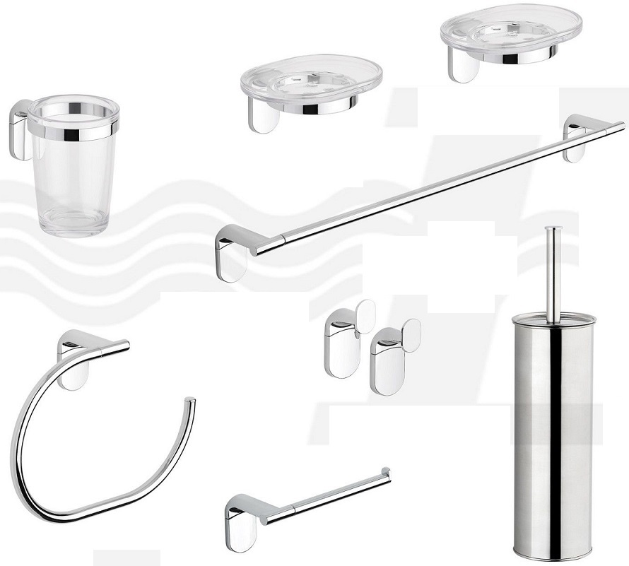 Metaform modello zero set accessori bagno for Accessori lavandino bagno