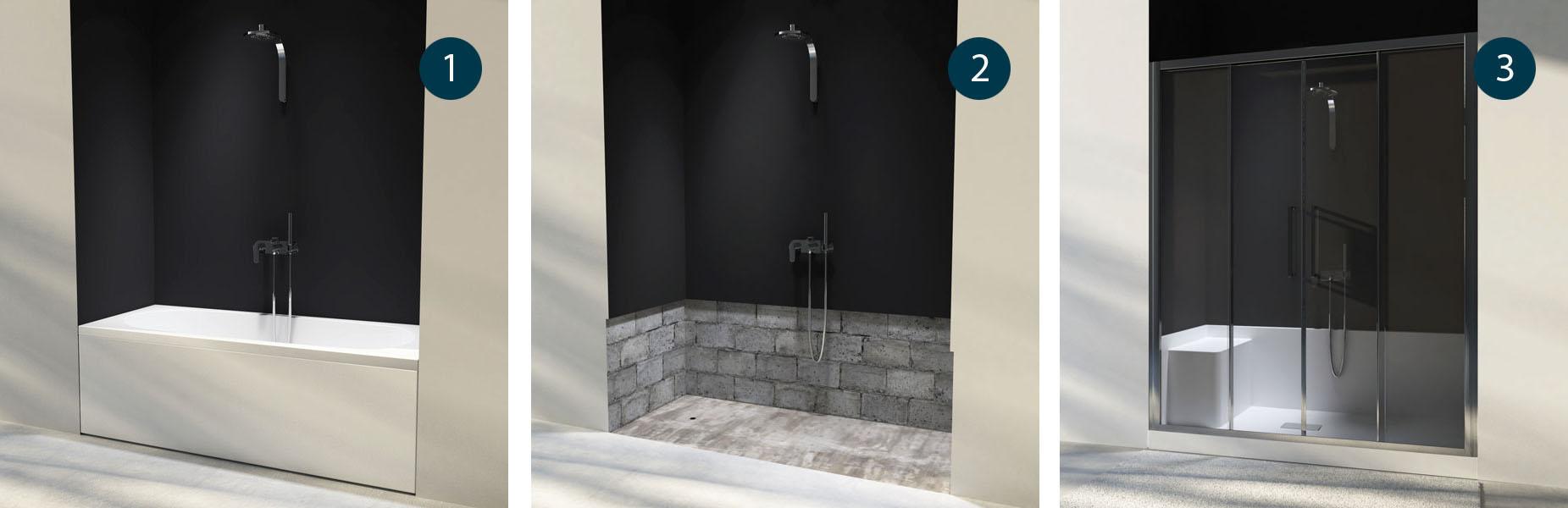 Box doccia da vasca a doccia vendita online italiaboxdoccia - Vasca doccia da bagno ...