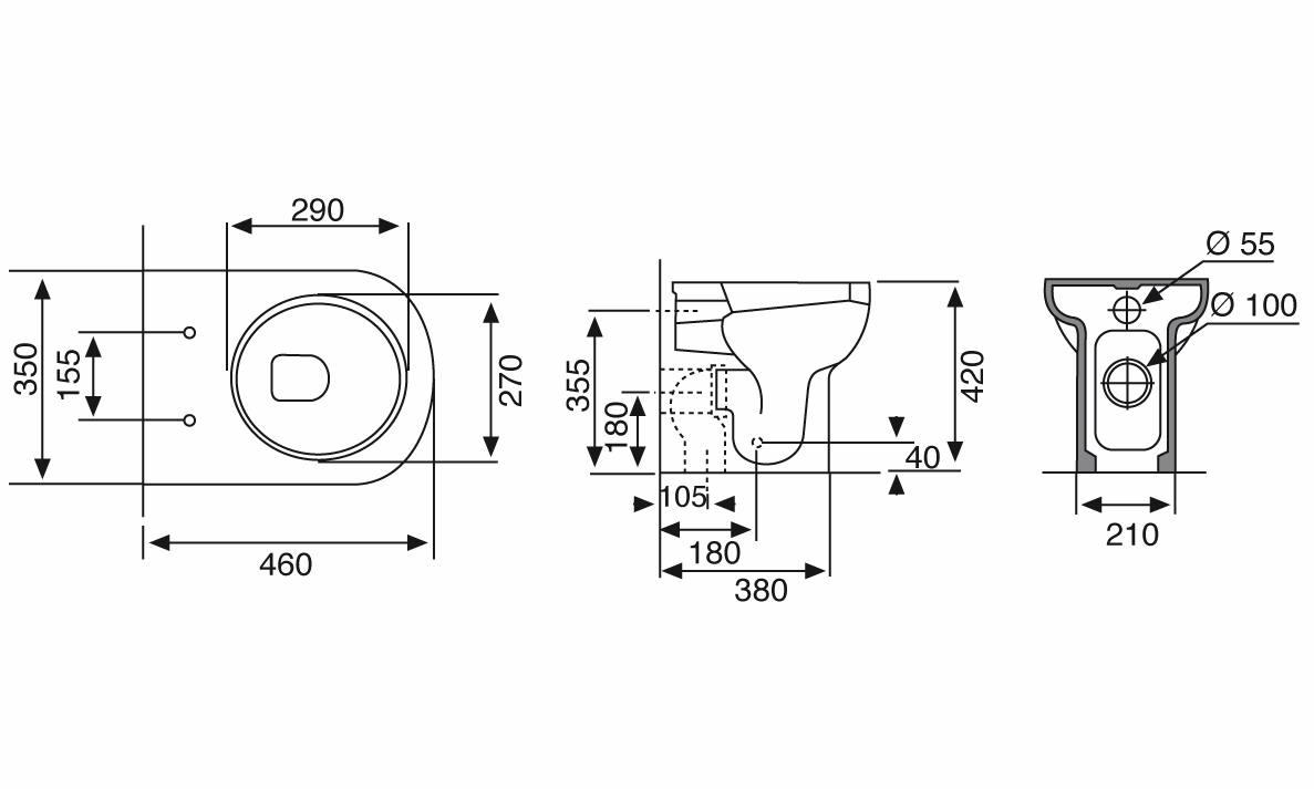 Misure piatto doccia rettangolare ideal standard standard - Piatto doccia marmogres ...