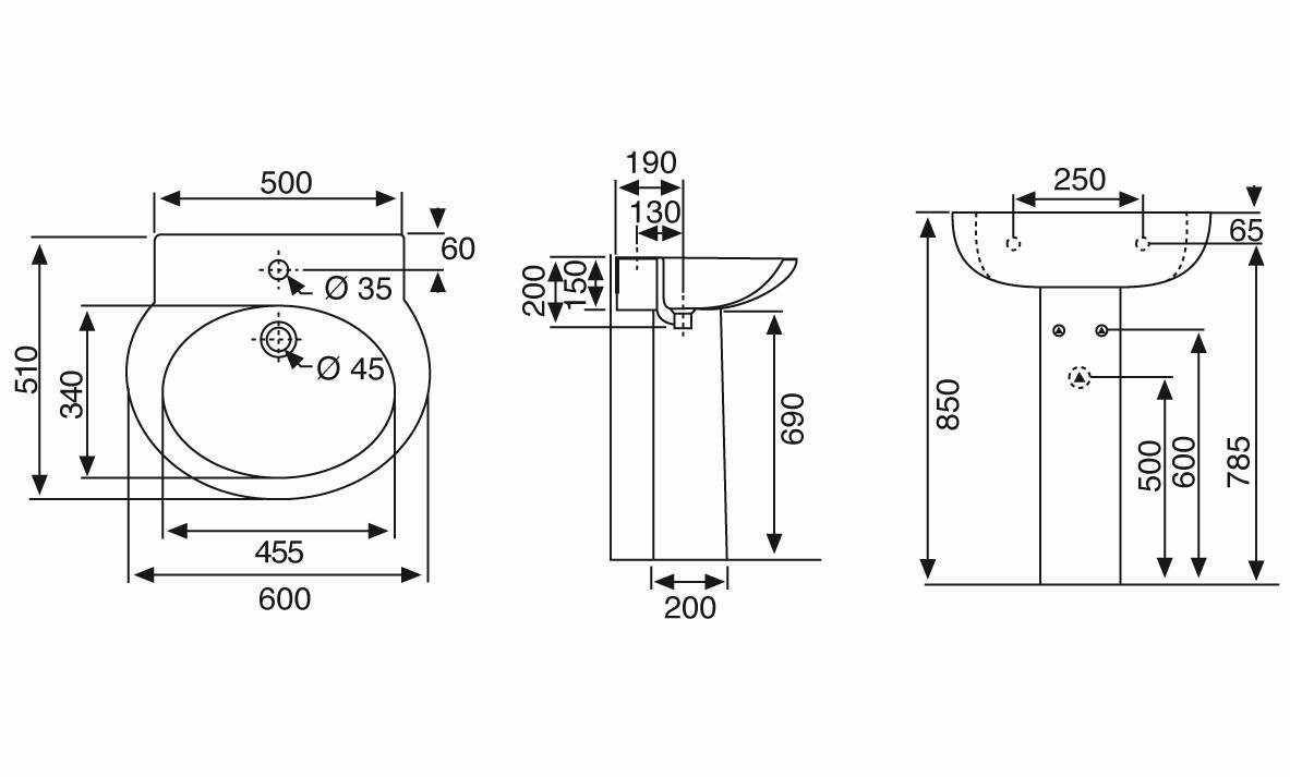 misure lavandino standard ~ idee creative su interni e mobili - Misure Lavandino Bagno