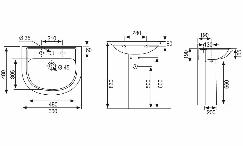 Dimensioni lavandino bagno standard boiserie in ceramica per bagno - Misure standard bagno disabili ...