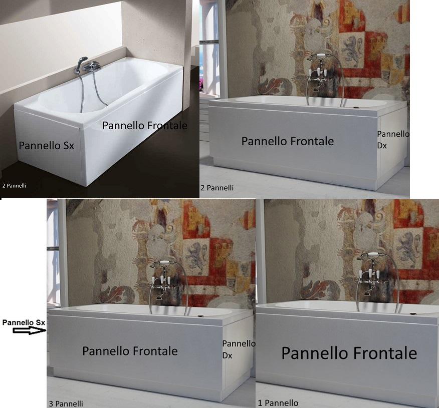 Pannelli Per Vasca Da Bagno Prezzi.Vasca Con Pannello 70 X 105 120 140 150 160 170 180 Cm In Vetroresina