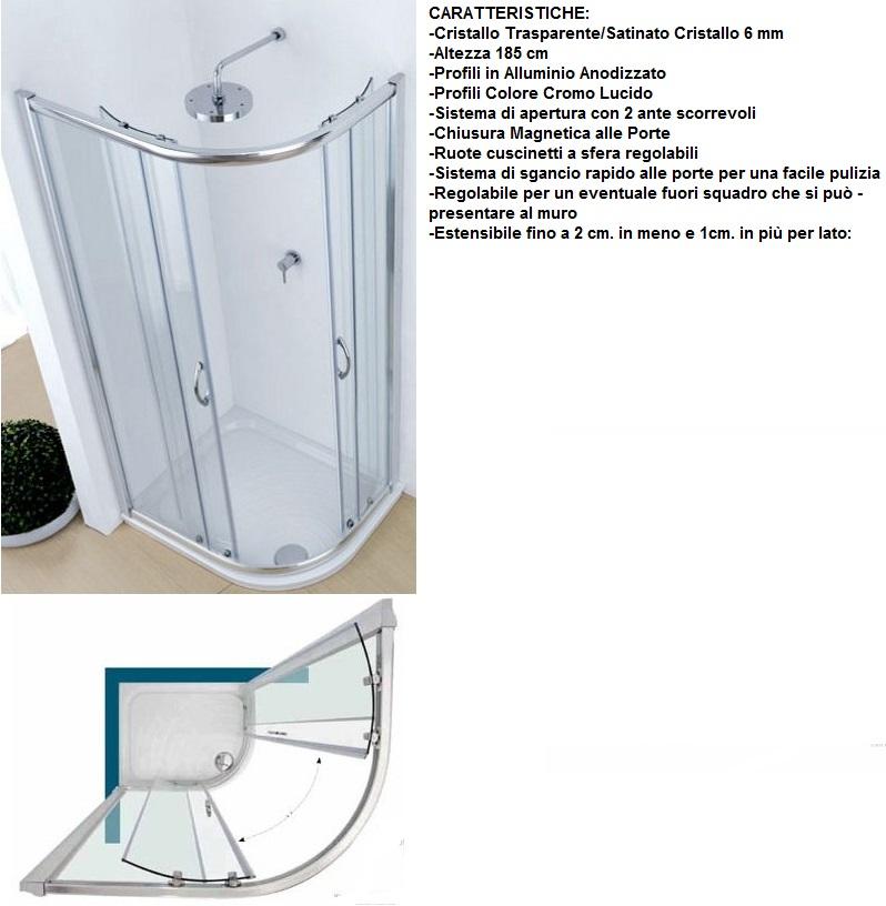 Althea - Piatto Doccia ad Angolo Dx 90x70 cm Asimmetrico