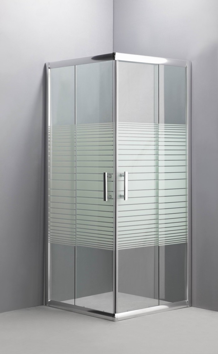 Cabina doccia box doccia angolare cristallo serigrafato 6 mm - Box doccia in vetro prezzi ...