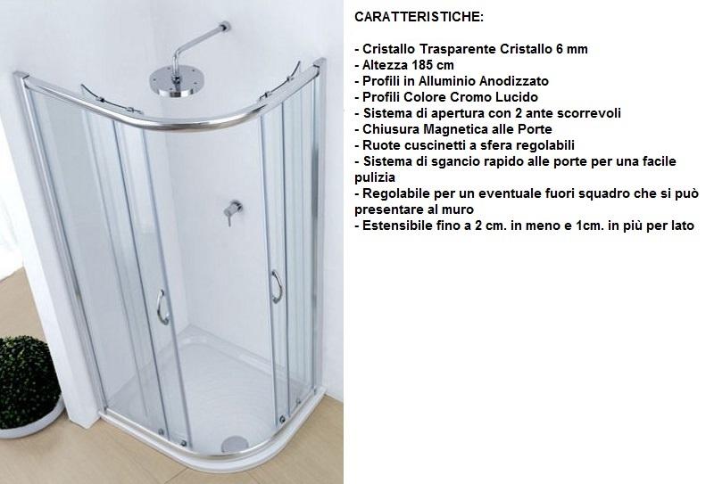 Piatto doccia marmo resina stondato 80x100 asimmetrico - Box doccia resina ...