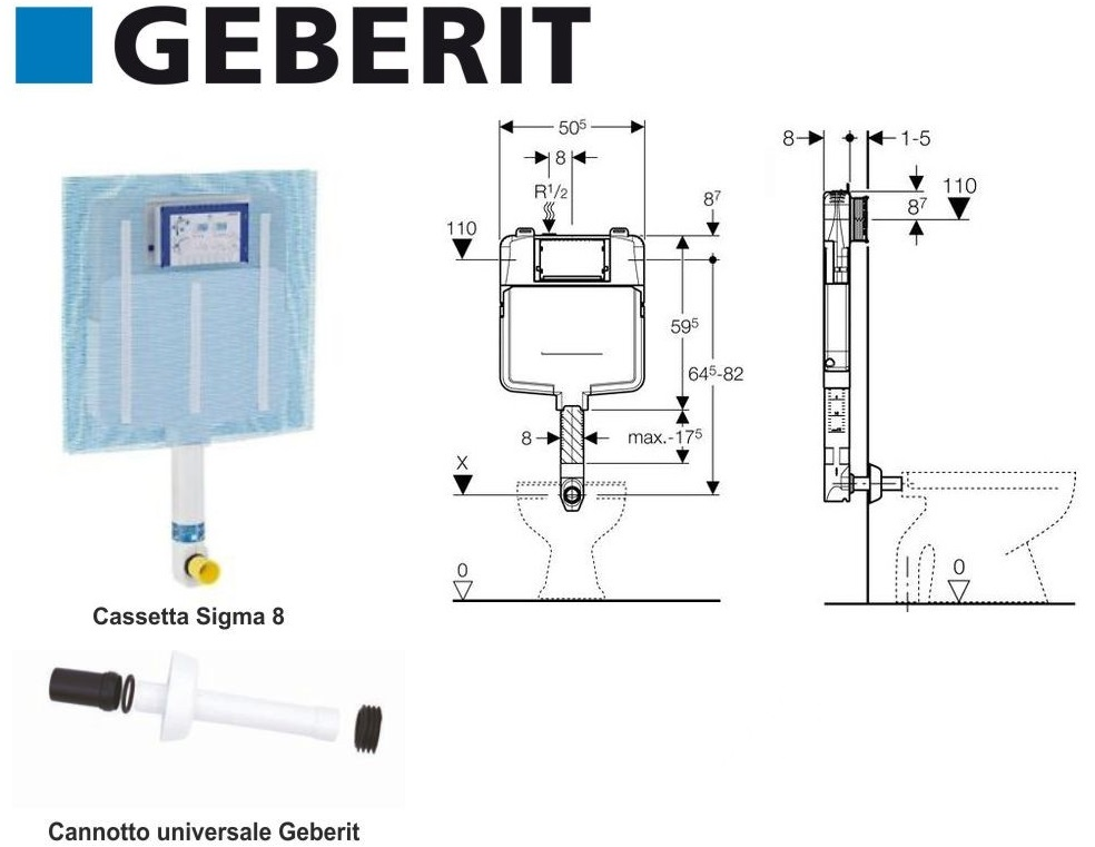 Geberit placca sigma 20 colore cromata a due pulsanti - Cassetta bagno geberit ...