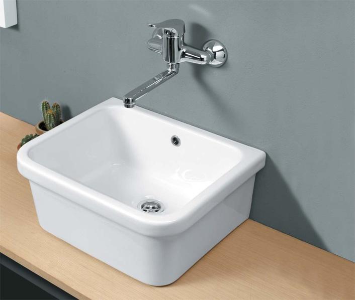 Vasca lavatoio con troppopieno vendita online for Parete vasca pieghevole leroy merlin