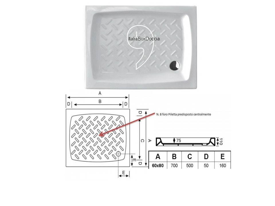 Piatto Doccia Angolare 60 X 80.Box Doccia Rettangolare 60x80 Cm Cristallo 3 Mm Vendita Online