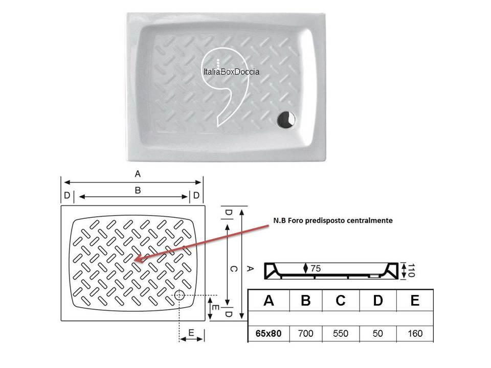 Box Doccia Rettangolare 65x80 cm Cristallo 3 mm - Vendita Online ...
